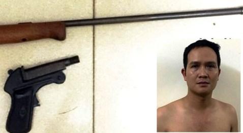 Kinh hoàng, nhóm con nghiện dùng súng hoa cải bắn nhau - 1