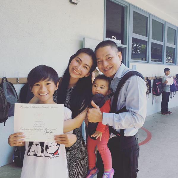 Bất ngờ cách bố dượng đối xử với con riêng của Jennifer Phạm, Kim Cương - 7