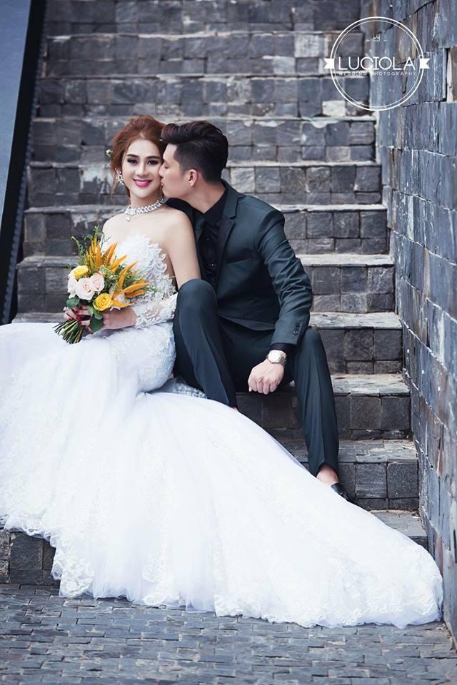 Hé lộ bộ ảnh cưới đẹp lung linh của Lâm Khánh Chi - 1