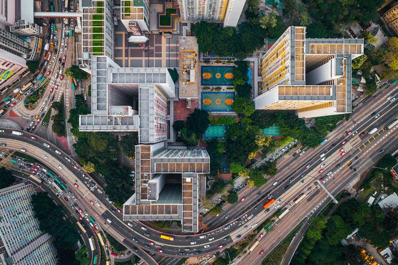 Những tòa cao ốc Hồng Kông nhìn từ trên... trời - 3