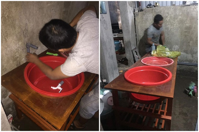 Chồng tự chế bồn rửa bát để vợ đỡ đau lưng gây sốt - 1