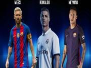 """Bóng đá - Đội hình tiêu biểu cúp C1: """"Rực rỡ"""" Ronaldo, Messi, Neymar"""