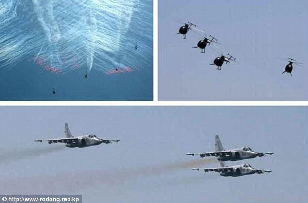 Không quân Triều Tiên rầm rộ tập bắn phá tàu sân bay - 5