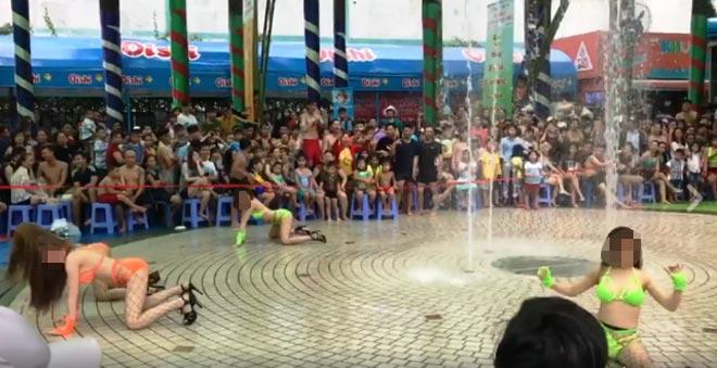 """""""Nhức mắt"""" xem nhóm cô gái mặc bikini nhảy uốn éo ở Sài Gòn - 1"""