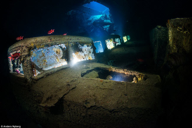 """""""Nín thở"""" đột nhập xác tàu đắm dưới đáy biển sâu - 4"""