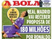 Bóng đá - MU & PSG đấu giá Ronaldo: Real chào bán 180 triệu euro