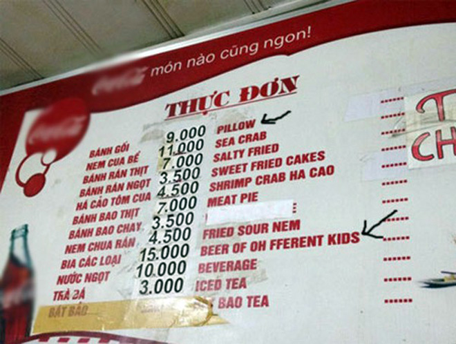 """Những menu đồ ăn khiến thực khách cười…""""đứt ruột"""" - 5"""