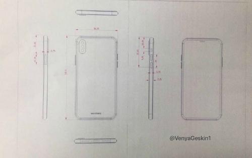Rò rỉ bản thiết kế sơ khai của iPhone 7s Plus và iPhone 8 - 1