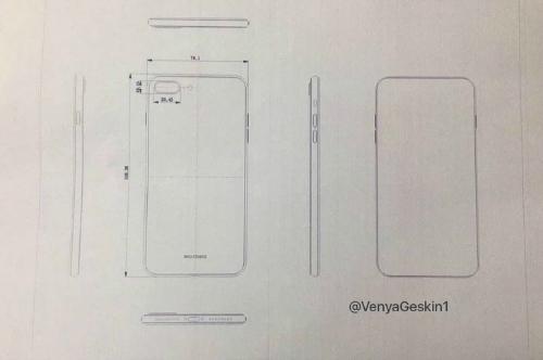 Rò rỉ bản thiết kế sơ khai của iPhone 7s Plus và iPhone 8 - 2