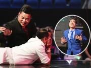 """Mr. Đàm nằm dài ngắm Ngọc Sơn """"phát điên"""" trên sân khấu"""
