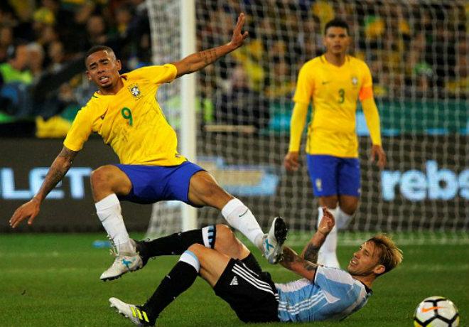 Brazil - Argentina: 4 pha chạm cột và 1 bàn thắng - 1