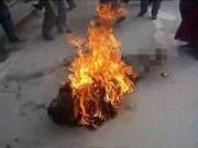 Chấn động: Chồng tẩm xăng đốt chết vợ rồi cuốn dây điện tự sát