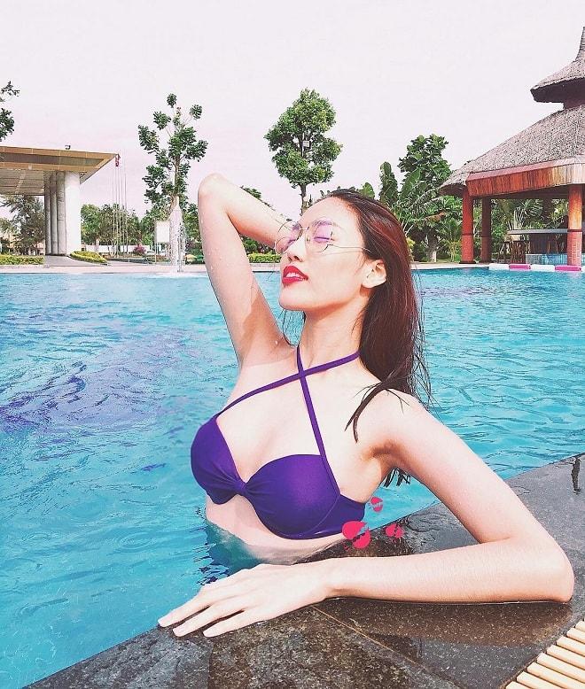 """Kiều nữ 9X, CEO trẻ nhất nhì VN diện bikini trễ nải khoe eo """"con kiến"""" - 3"""