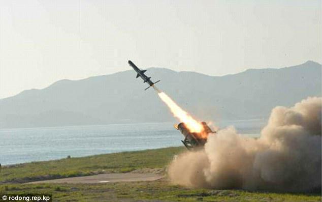 Triều Tiên tung ảnh tên lửa diệt hạm xuyên thủng tàu chiến - 2