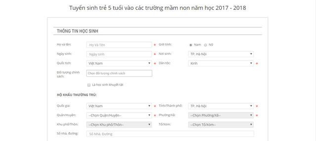 Cách đăng ký trực tuyến xét tuyển đầu cấp hiệu quả tại Hà Nội - 3