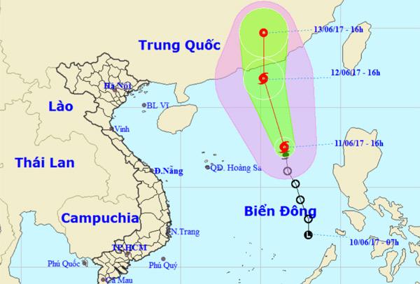 Bão số 1 tăng cấp độ và hướng vào Trung Quốc - 1