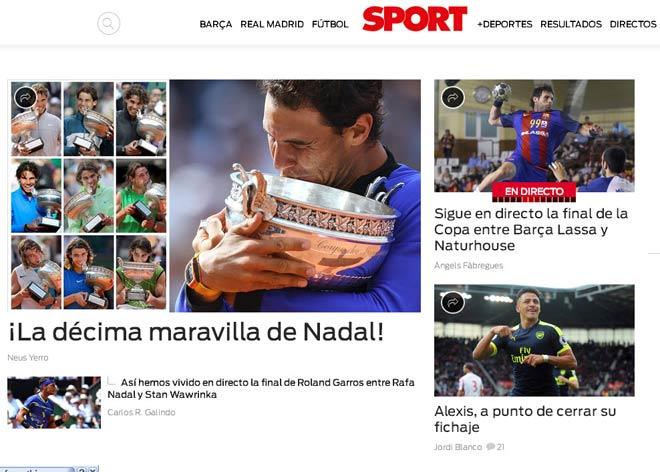 """Báo chí thế giới: Vô địch Roland Garros, """"Người ngoài hành tinh"""" Nadal - 5"""