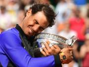 """Thể thao - Vô địch Roland Garros: Nadal gặt """"tá"""" kỉ lục, lên số 2 thế giới"""