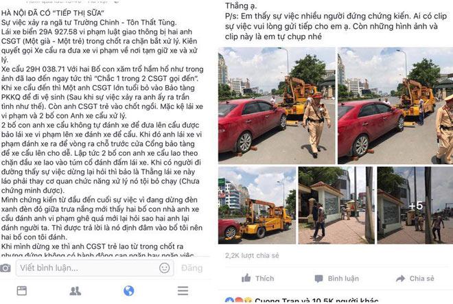 """Làm rõ thông tin CSGT Hà Nội """"ngó lơ"""" nhìn người vi phạm bị đánh - 2"""