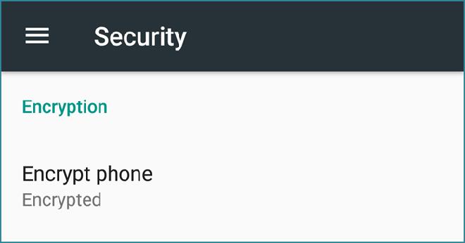 Kích hoạt chức năng mã hóa để bảo vệ điện thoại Android - 1