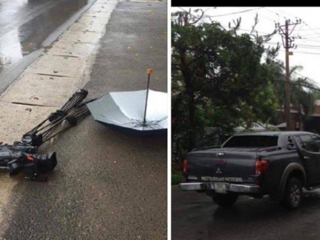 Phóng viên VTV bị ô tô đâm, nghiền nát máy quay tiền tỷ