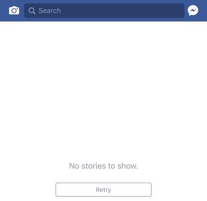 """Trang News Feed của Facebook bị """"đơ"""" trên toàn cầu - 1"""