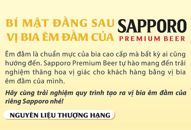 Bí mật đằng sau vị bia êm đằm của Sapporo Premium Beer - 1