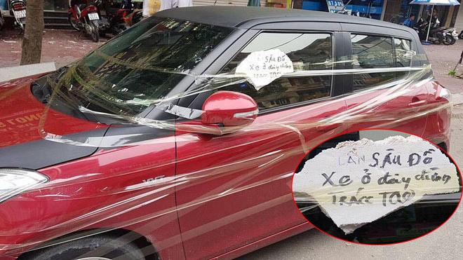 """Người dán chữ """"Lần sau đỗ xe ở đây đừng trách tao"""" có bị xử phạt? - 1"""