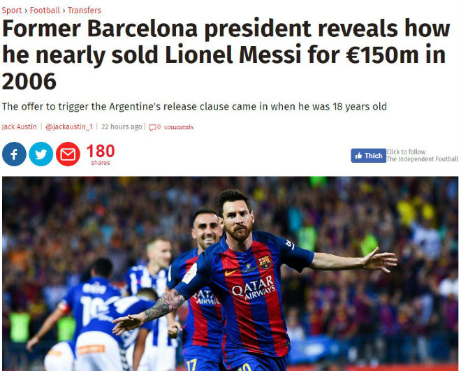 Khó tin: Messi bỏ Barca, đấu Ronaldo ở derby Manchester - 1
