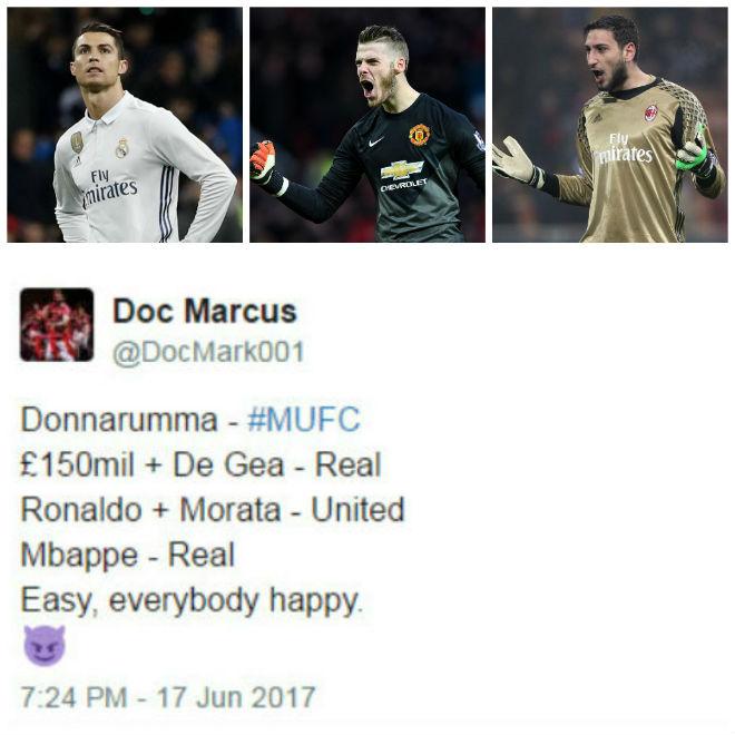 """Chuyển nhượng MU: Fan đòi bán De Gea, mua Ronaldo và """"Buffon mới"""" - 1"""
