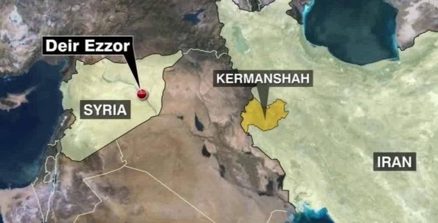 Iran bất ngờ nã tên lửa vào Syria trả thù khủng bố IS - 1