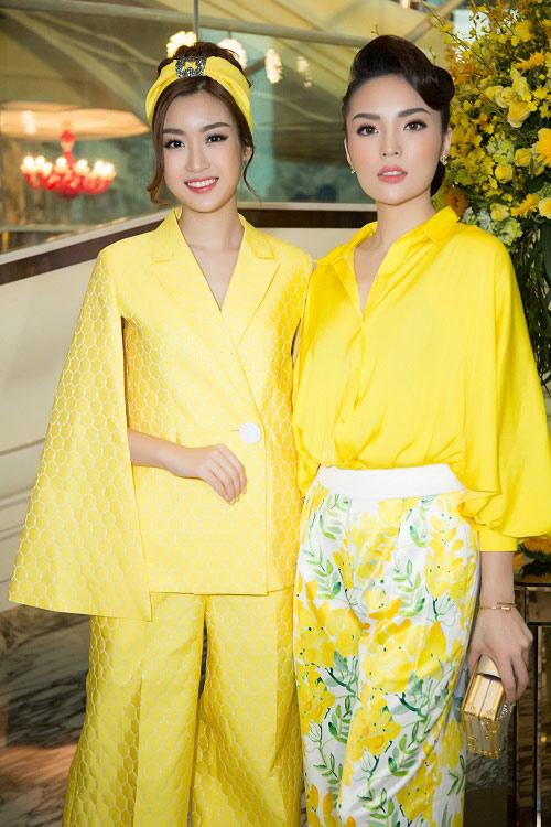 Hoa hậu Kỳ Duyên vàng chói mắt, đọ sắc Mỹ Linh, Diễm My - 5