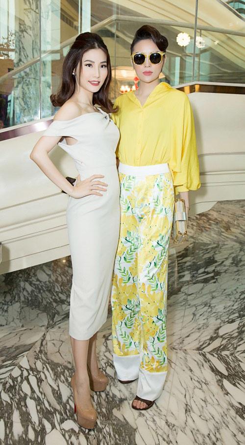 Hoa hậu Kỳ Duyên vàng chói mắt, đọ sắc Mỹ Linh, Diễm My - 11