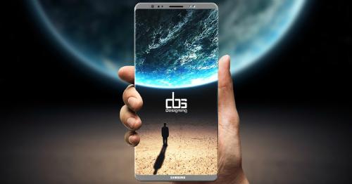 Màn hình Note 8 siêu đẹp bảo sao Samsung loại cảm biến vân tay