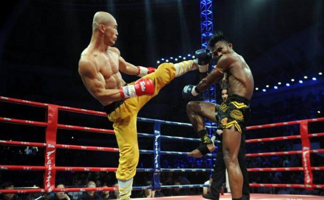 """Kinh điển: """"Đệ nhất Thiếu Lâm"""" đả tay đấm số 1 Muay Thái - 1"""