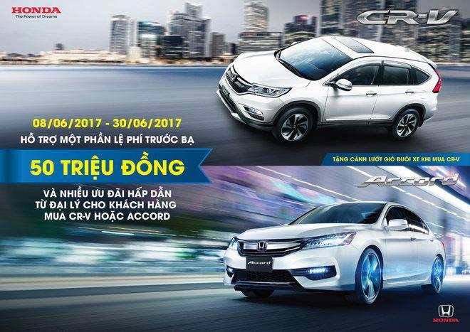 Nhận ưu đãi khi mua Honda CR-V và Accord trong tháng 06/2017 - 1