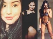 Mỹ nữ Á mặt xinh hiền dịu tương phản cơ bắp đầy sức mạnh