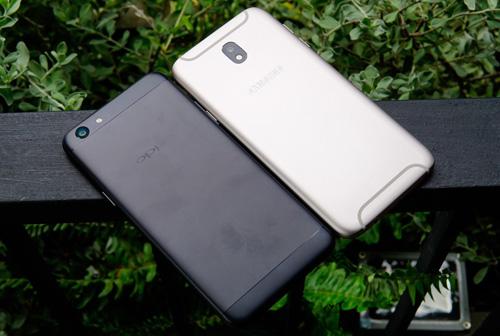 """So sánh Oppo F3 với Galaxy J7 Pro: Hàng """"ngon"""" phân khúc 7 triệu đồng - 1"""
