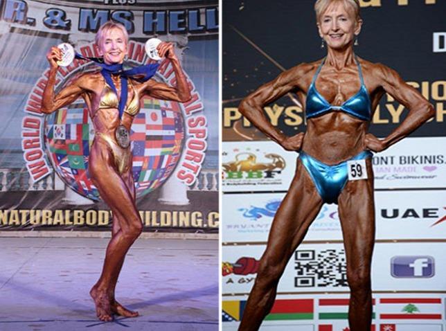 """Cụ bà 74 tuổi """"mình đồng da sắt"""" hừng hực đi thi thể hình - 5"""