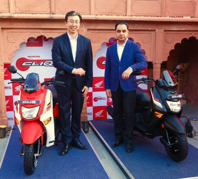 Công ty xe mô tô và xe ga Honda Ấn Độ hôm 20.6.2017 đã chính thức tung xe ga Honda Cliq ra thị trường nước này.