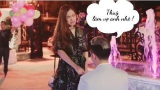 Cô gái trẻ được cả gia đình bạn trai đến nhảy flashmob cầu hôn