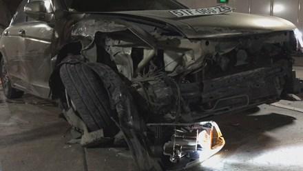 Ô tô chạy ngược chiều vào hầm Thủ Thiêm gây tai nạn liên hoàn - 2