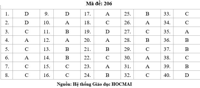 HOT: Gợi ý giải đề thi tốt nghiệp THPT Lý, Hóa, Sinh - 8