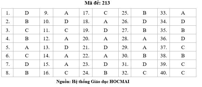 HOT: Gợi ý giải đề thi tốt nghiệp THPT Lý, Hóa, Sinh - 7