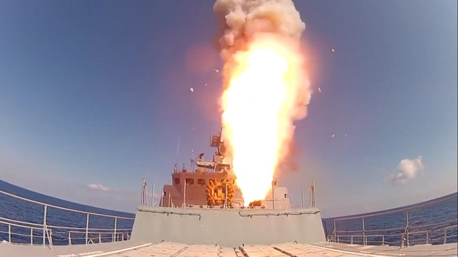Nga dồn dập bắn 6 tên lửa hành trình diệt IS ở Syria - 1