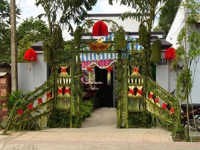 """Mê mẩn những cổng lá dừa """"chất lừ"""" của đám cưới Việt - 2"""