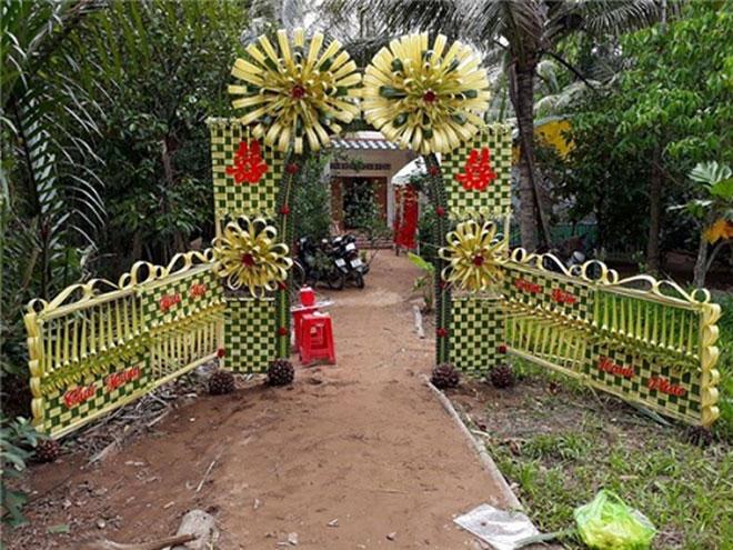 """Mê mẩn những cổng lá dừa """"chất lừ"""" của đám cưới Việt - 8"""