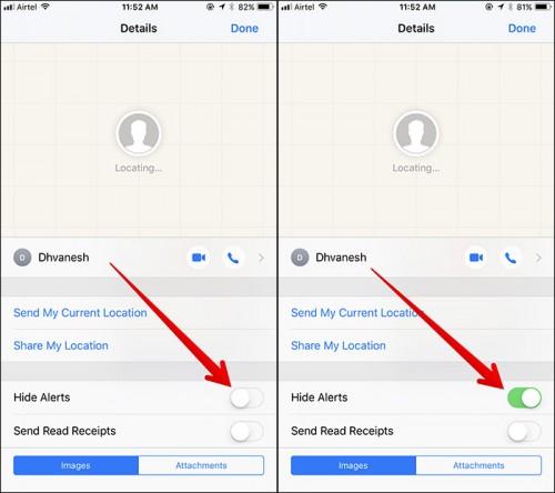 Thủ thuật ẩn thông báo Messages thú vị trên iOS 11 - 2