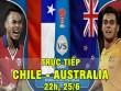"""TRỰC TIẾP bóng đá Chile - Australia: Không có quà cho """"chuột túi"""""""