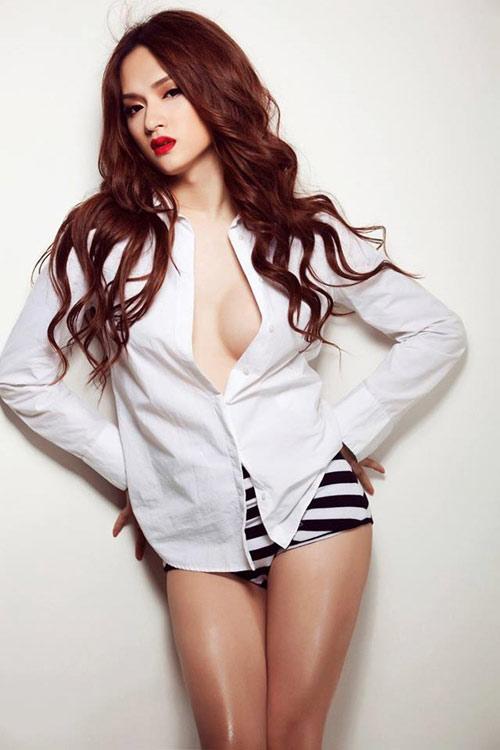 Hương Giang Idol nữ tính với đồ bơi hở lưng rộng mênh mang - 8